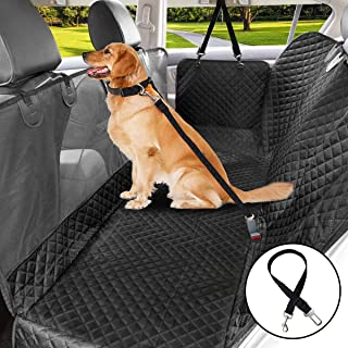 Vailge Dog Car Hammock Seat Cover Waterproof, 600D Oxford Dog Seat Cover with Mesh Window Stain Resistant Car Seat Cover f...
