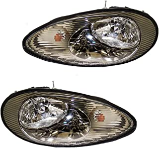 Driver and Passenger Headlights Headlamps Replacement for Mercury XF1Z13008DA XF1Z13008CA