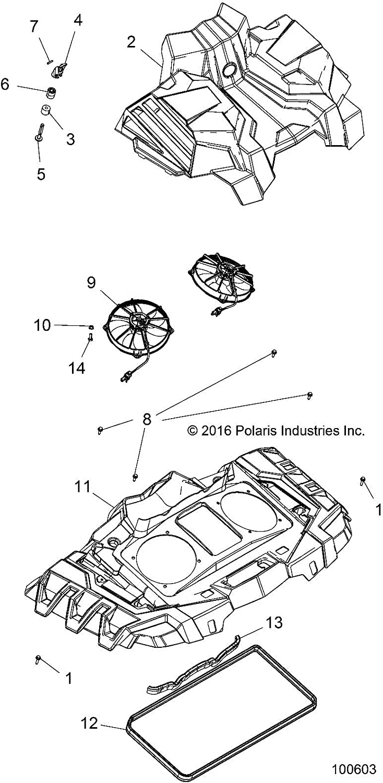 Polaris Radiator Milwaukee Mall Challenge the lowest price of Japan ☆ Shroud Stealth Black Part Genuine 5452216 OEM