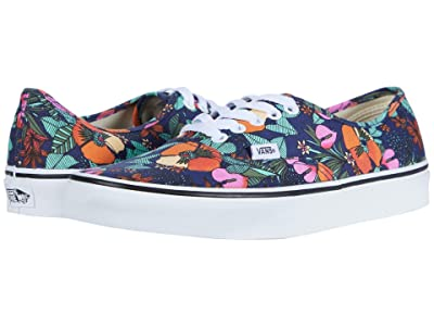 Vans Authentictm ((Multi Tropic) Dress Blues/True White) Skate Shoes