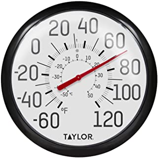 Taylor Precision Products 6700 Ez Read Dial Thermometer, Black