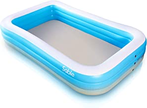 Inflatable Pool, Sable Swimming Pool for Baby, Kiddie, Kids, Adult, Infant, Toddler, 118