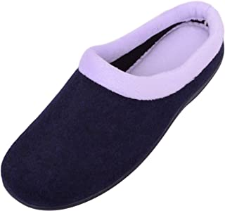 Absolute Footwear Womens Soft Suede Slippers/Mules/Indoor Shoes with Rubber Sole
