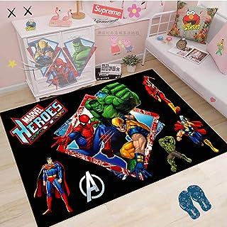 Tapis Avengers Anime Tapis Salon Chambre Chevet Enfants Miracle Spider-Man À Motifs Pad Garçon Chambre Couleur Tapis Antid...