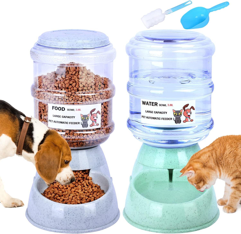 Pet Feeder and Water Dispenser Set L Drink 3.8 Automatic Award Refill Award-winning store