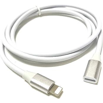 Access <100cm> アルミスリムヘッド ライトニング 延長 ケーブル ホワイト 8pin lightning 延長 オスメス ライトニング充電 + データ伝送 びオーディビデオ OTG ライトニングケーブル for iPhone/iPad/iPod に対応 延長コード iP22AW-100