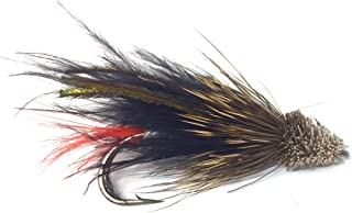 Feeder Creek Fly Fishing Trout Flies - Marabou Muddler Streamer in Black OR White- 12 Wet Flies - 3 Size Assortment 4, 6, 8 (4 of Each Size) for Trout, Bass, and Other Freshwater Fish