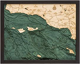 Santa Barbara/Channel Islands 3-D Nautical Wood Chart, 16