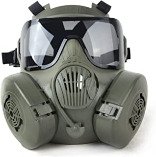 M50 Airsoft Paintball Protective Full Face Toxic Gas Mask Googles Set