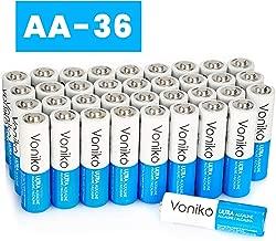 VONIKO - Premium Grade AA Batteries - 36 Pack - Alkaline Double AA Battery - Ultra Long-Lasting, Leakproof 1.5v Batteries - 10 Year Shelf Life