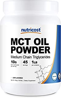 Sponsored Ad - Nutricost MCT Oil Powder 1LB (16oz) - Great for Keto, Ketosis and Ketogenic Diets - Zero Net Carbs, Non-GMO...