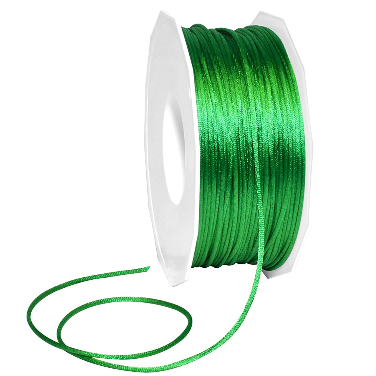 Morex Ribbon Nylon, 1/8 inch by 144 Yards, Green, Item 1305/144-607 Satin Cord