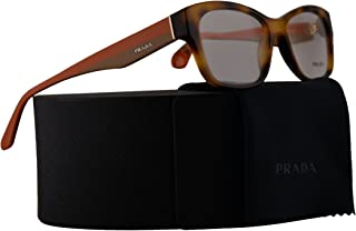 a0652a557557 Prada PR24RV Eyeglasses 52-16-140 Light Havana w Demo Clear Lens TKR1O1