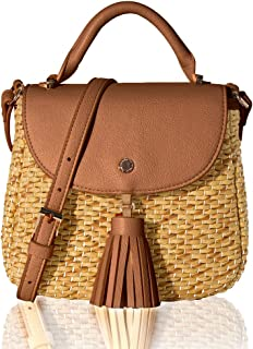 30f75c881f3 Woven Bag for Women Straw Cross Body Bag Shoulder Top Handle Satchel by The  Lovely Tote