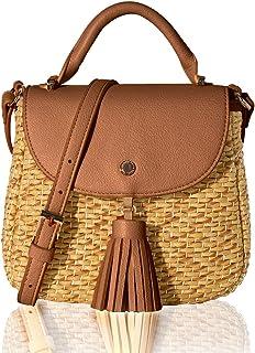 The Lovely Tote Co. Women's Straw Crossbody Bag Woven Cross Body Bag Shoulder Top Handle Satchel