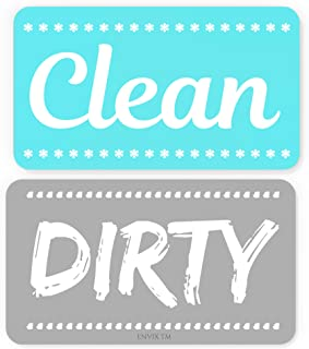 New! Dishwasher Magnet Clean Dirty Sign - Strongest Magnet Double Sided Flip - With Bonus Metal Magnetic Plate - Universal...
