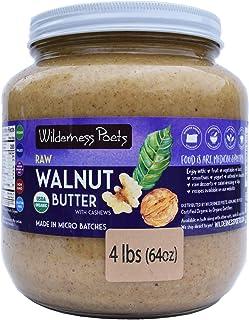 Wilderness Poets Walnut Butter with Cashews, Organic Raw Nut Butter - Half Gallon (64 oz)
