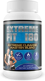 Extreme Fit 180-Extreme Cleanse Master Blend- Flush Excess Waste and Toxins- Increase Nutrient Absorption- Promote Weight ...