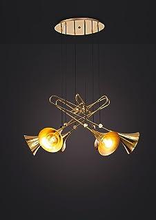 Mantra Jazz. Ciondolo trombette oro 6 luci.