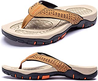KIIU Mens Thong Sandals Indoor and Outdoor Beach Flip Flop