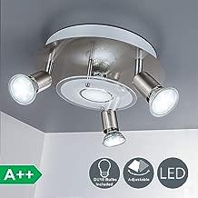 DLLT Modern Ceiling Spot Lights Fixtures 4-Light Round Flush Mount Directional Lighting,..