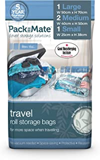 Packmate ® – Lot de 4 Housse de Rangement sous Vide à Rouler – pour Les..
