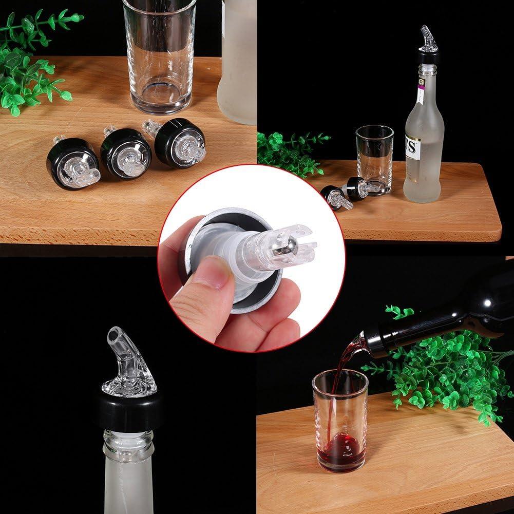 Blanco Disparo de botella Dispensador de licor de pl/ástico Medida Vertedor de licor 50 ml