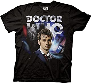 Doctor Who Tennant Collage Adult Black T-Shirt