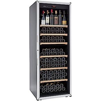 FRANCE CAVE – Cave à vin de vieillissement - Fabrication française – Grande capacité 213 bouteilles – 6 clayettes – Cave silencieuse : 37 dB(A)- Cave noire porte vitrée - 1 température