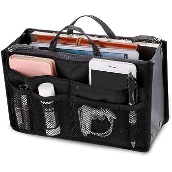 RED 2 X Large Purse Organizer Insert Pack Women Travel Set Handbag Liner Tidy Dual
