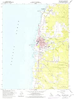 YellowMaps Fort Bragg CA topo map, 1:24000 Scale, 7.5 X 7.5 Minute, Historical, 1960, Updated 1980, 26.7 x 22 in