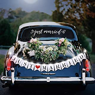 تزیینات اتومبیل بنر عروسی تازه متاهل (تابلو نور LED بنر)