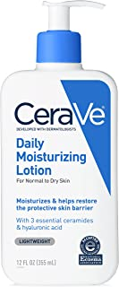 CeraVe Daily Moisturizing Lotion | 12 Ounce | Face & Body Lotion for Dry Skin with Hyaluronic Acid | Fragrance Free