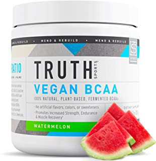 Sponsored Ad - Truth Nutrition Vegan BCAA Powder- 2:1:1 Ratio All Natural Branched Chain Amino Acids for Energy, Muscle Bu...