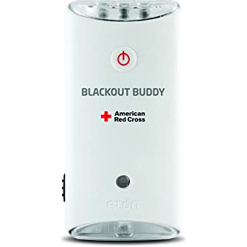 American Red Cross Blackout Buddy Swivel Emergency Flashlight, Blackout Alert & Night Light (Pack of 2)
