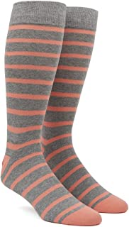 The Tie Bar Trad Stripe Men's Cotton Blend Dress Socks