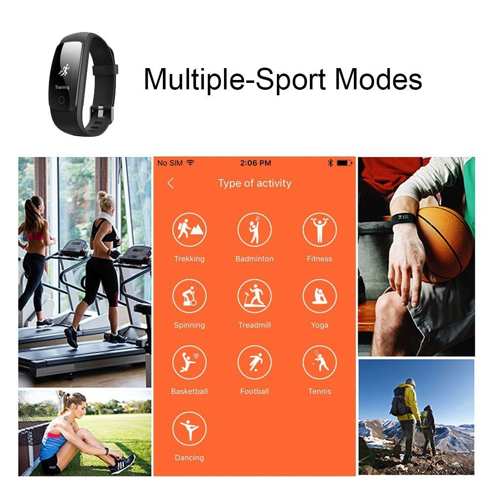 Fitness Tracker ID 107 Plus HR, Tigerhu Pulsera Inteligente ...
