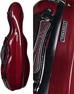 Tonareli Violin Fiberglass Case - Special Edition Red Graphite - 4/4 VNF1024