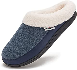 Mens Womens House Slippers Indoor Outdoor Memory Foam Warm Comfortable Shoes for Women Anti-Slip Winter Slipper