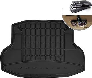 Frogum Alfombrilla de Goma 3D Inserto Flexible para el Maletero del automóvil 1 Pieza de Goma elástica Negra El tapete se Adapta Perfectamente para Honda Civic X Sedan de 2017