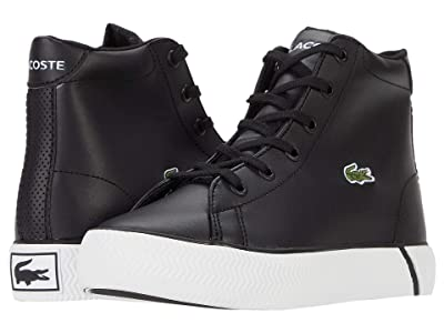 Lacoste Kids Gripshot Mid 0120 2 CUC (Little Kid) (Black/White) Kid