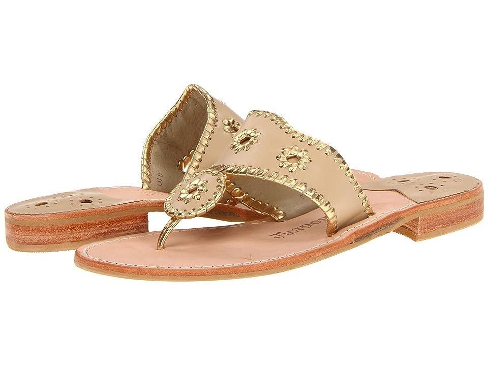 Jack Rogers Nantucket Gold (Baby Camel Gold) Women's Sandals