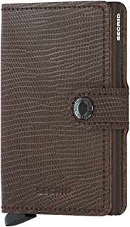 SECRID - Secrid Mini wallet Genuine Rango Leather RFID Safe Card Case for max 12 cards (Rango Brown Brown)