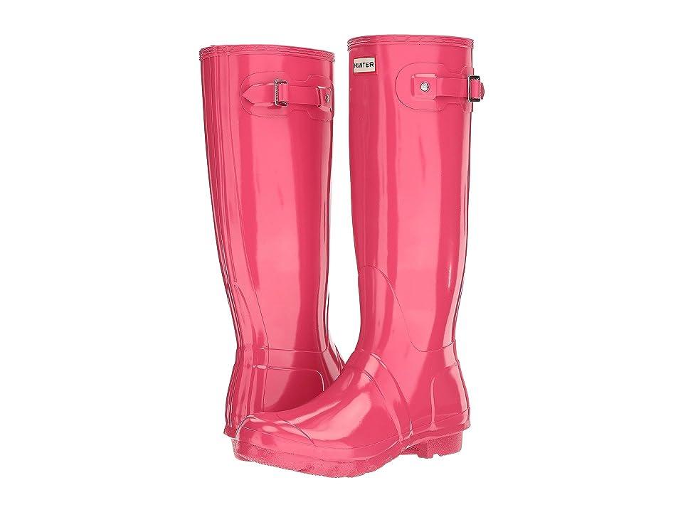 Hunter Original Tall Gloss Rain Boots (Bright Pink) Women