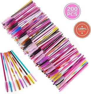 817a5665c9b 200 Pcs Disposable Mascara Wands Eyelash Brushes Eye Lash Makeup  Applicators (Multicolor)