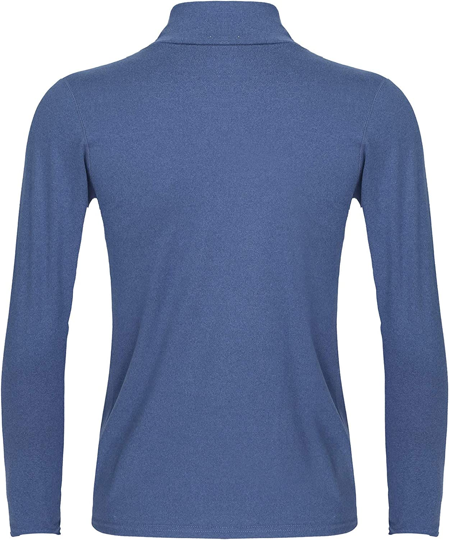 ranrann Men's Thermal Underwear Top Turtleneck Long Sleeves Casual T-Shirt Slim Fit Undershirts