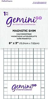 Crafters Companion GEMGO-ACC-MAGP Gemini Go Accessoires pour machine de découpe – cale magnétique (1 pièce), Blanc, Taille...