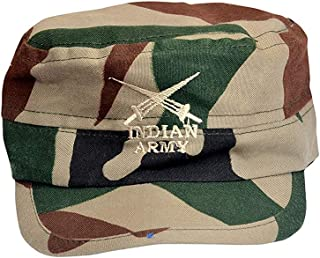 97808cb2ee1 SoSh Indian Army Men's and Women's Cotton Classic Adjustable Plain Baseball  Cap (Army, Free