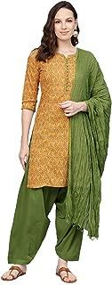 Jaipur Kurti Women's Straight Salwar Suit Set (JKPTD3904-XXL_Beige_XX-Large)