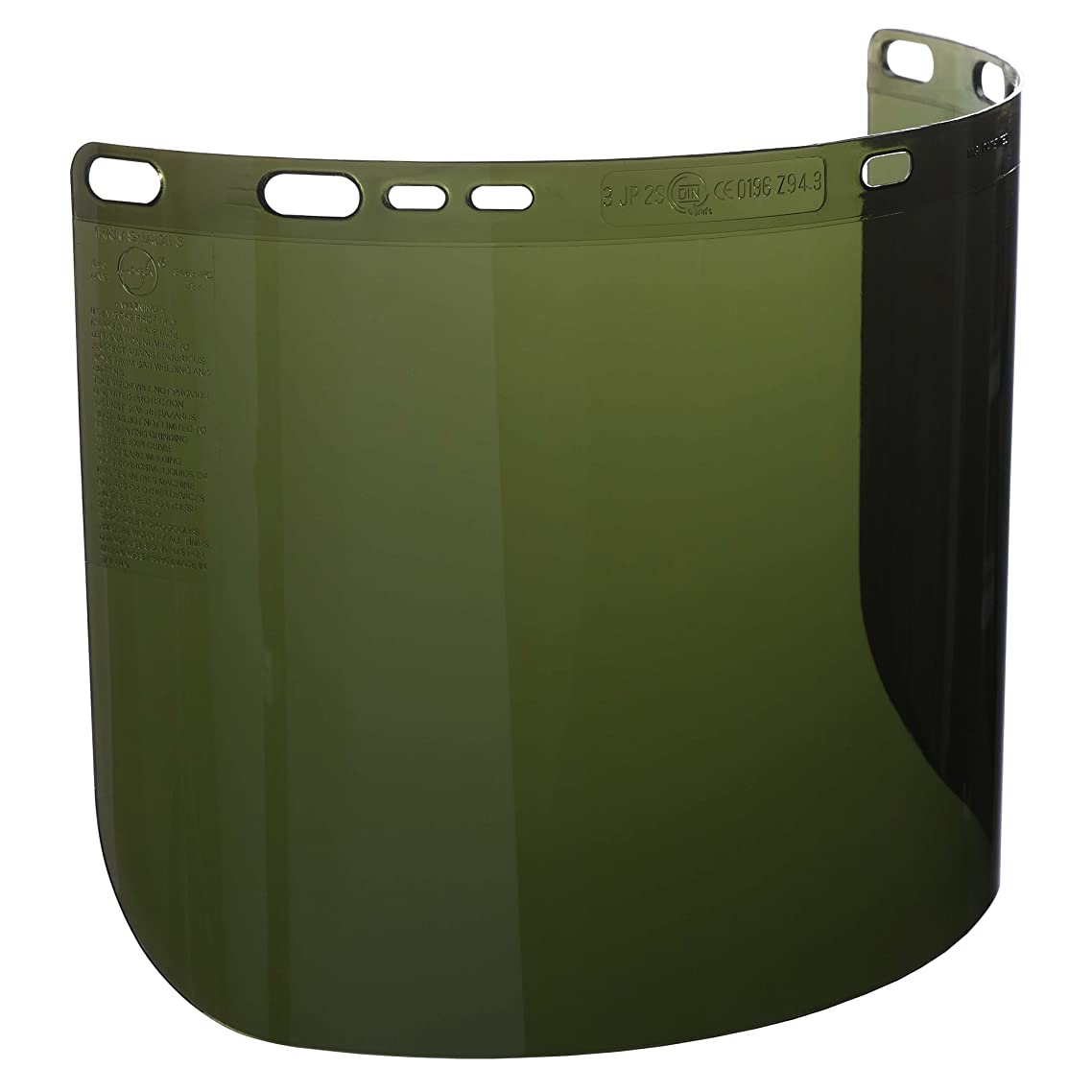 """Jackson Safety F50 Specialty High Impact Face Shield (26262), Polycarbonate, 8"""" x 15.5"""" x 0.06"""", IRUV 5.0, Face Protection, Unbound, 12 Shields / Case qdmyblzp96130228"""